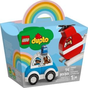 lego 10957 fire helicopter police car