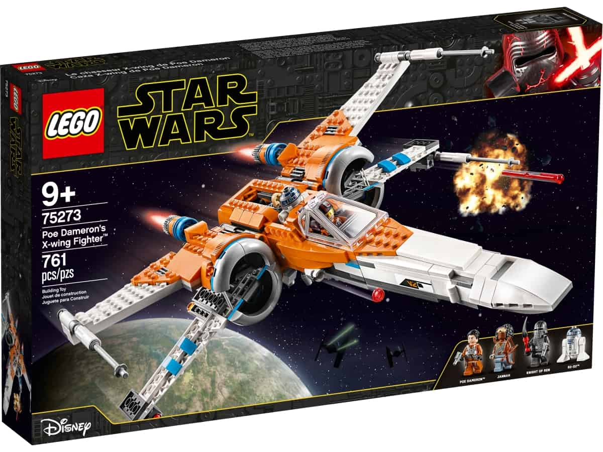 lego 75273 poe damerons x wing fighter