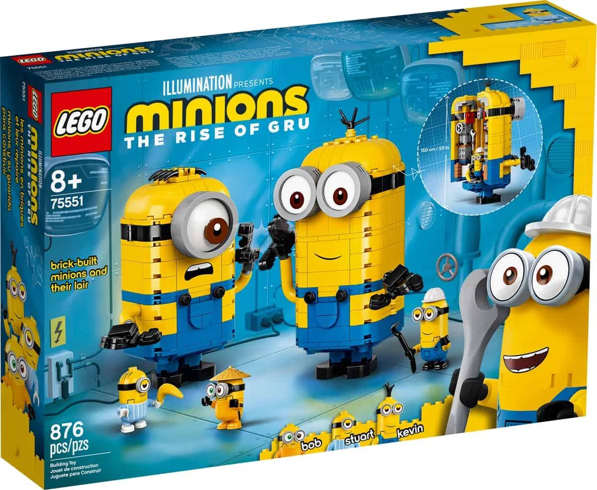 lego 75551 brick built minions and their lair
