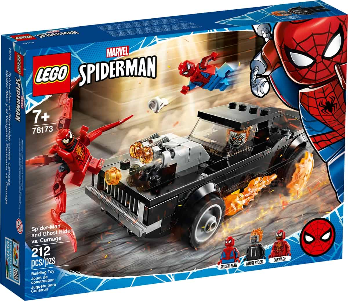 lego 76173 spider man and ghost rider vs carnage