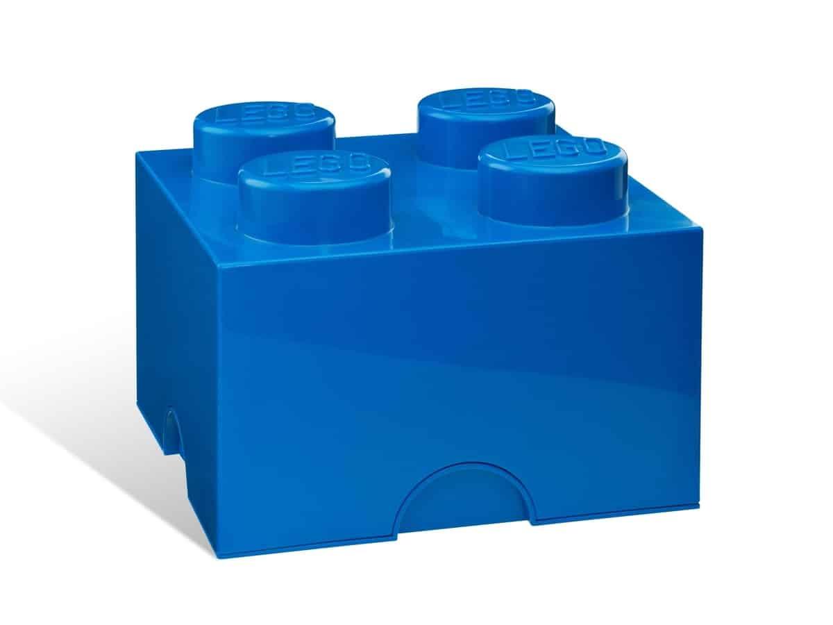 lego 5001383 4 stud blue storage brick
