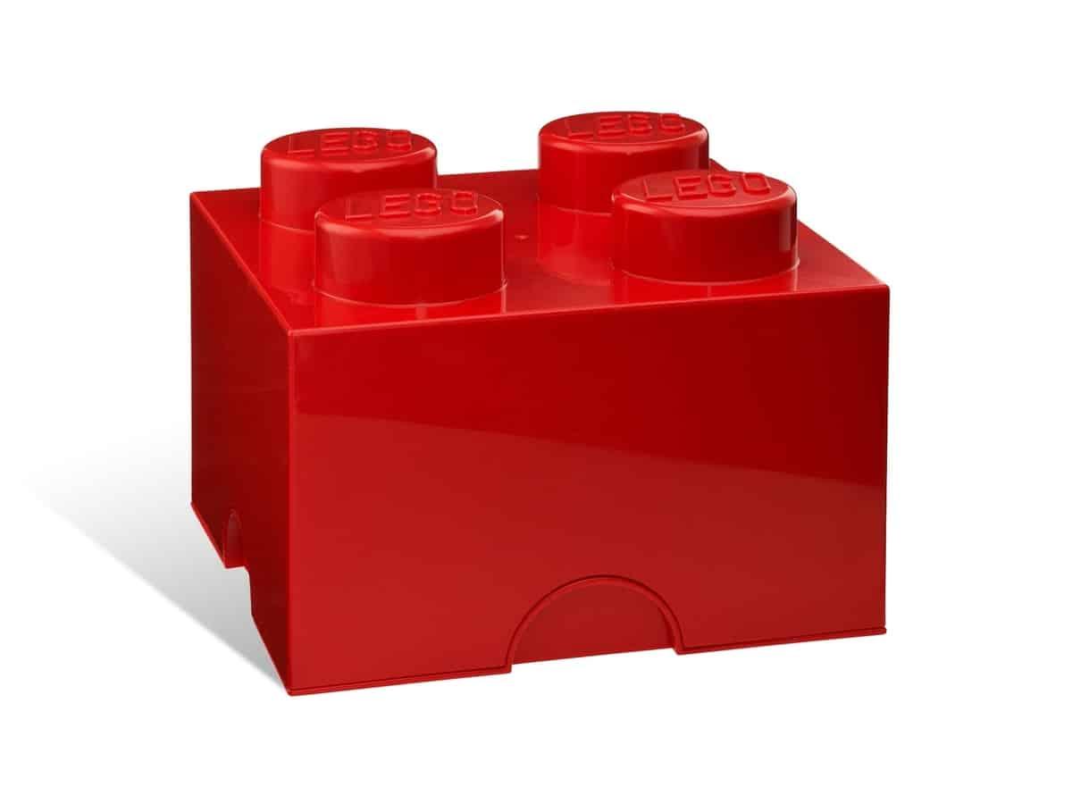 lego 5001385 4 stud red storage brick