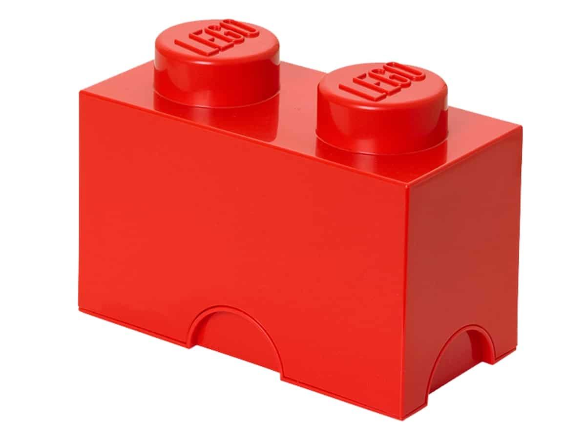 lego 5004279 2 stud red storage brick