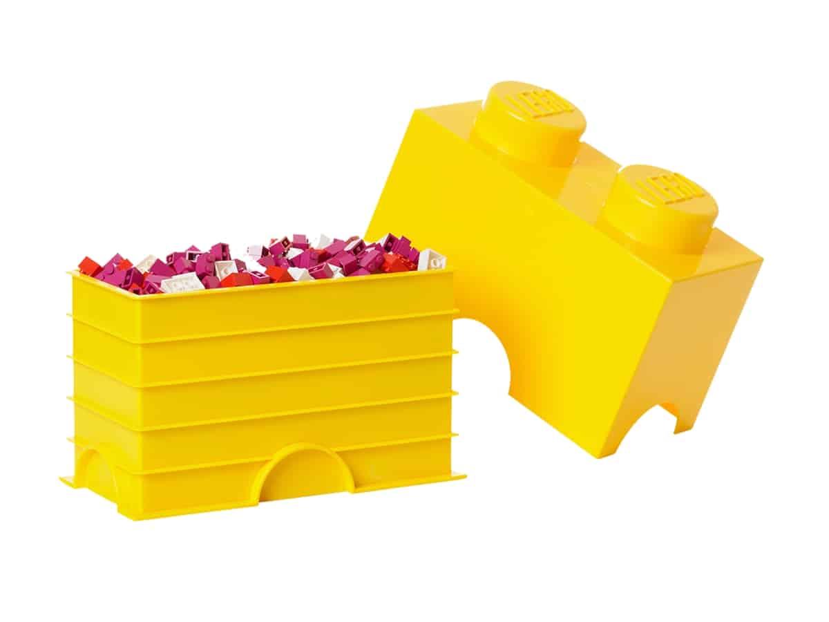 lego 5004891 2 stud yellow storage brick