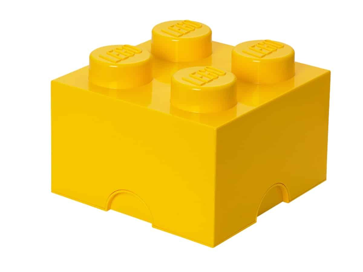 lego 5004893 4 stud yellow storage brick