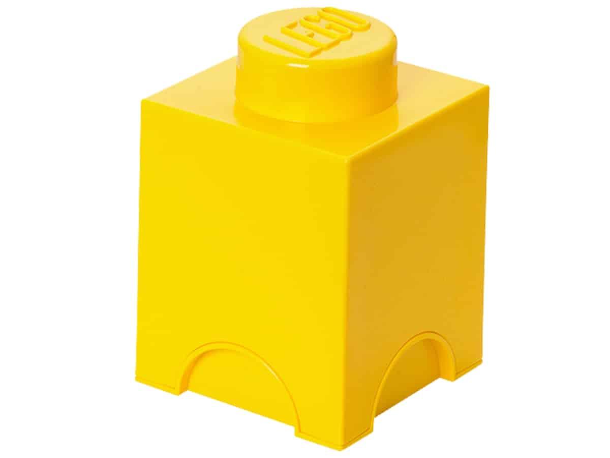 lego 5004898 1 stud yellow storage brick