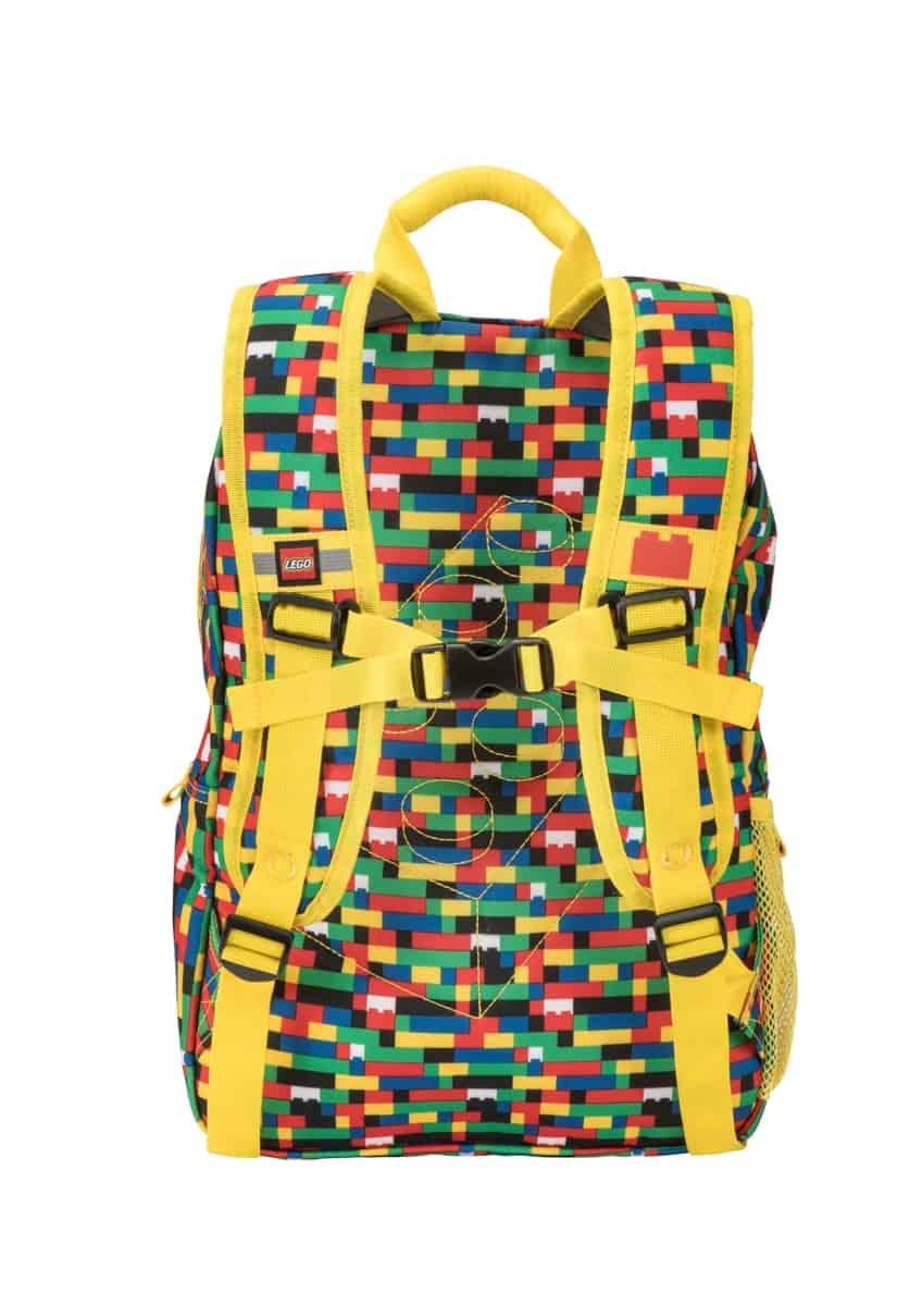 lego 5005356 red blue brick print eco heritage backpack
