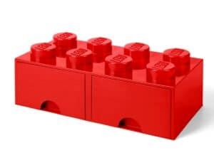 lego 5005398 8 stud bright red storage brick drawer