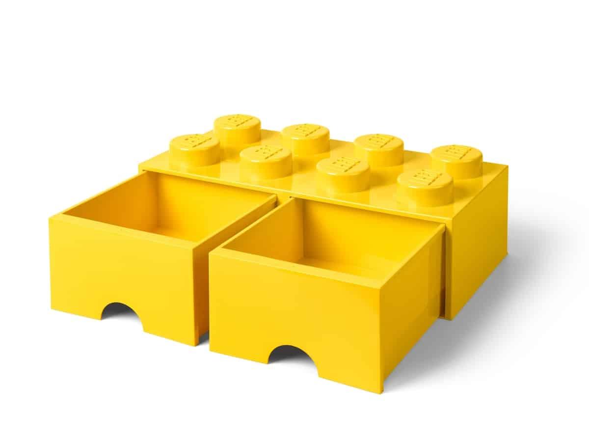 lego 5005400 8 stud bright yellow storage brick drawer