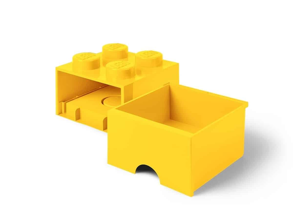 lego 5005401 4 stud bright yellow storage brick drawer
