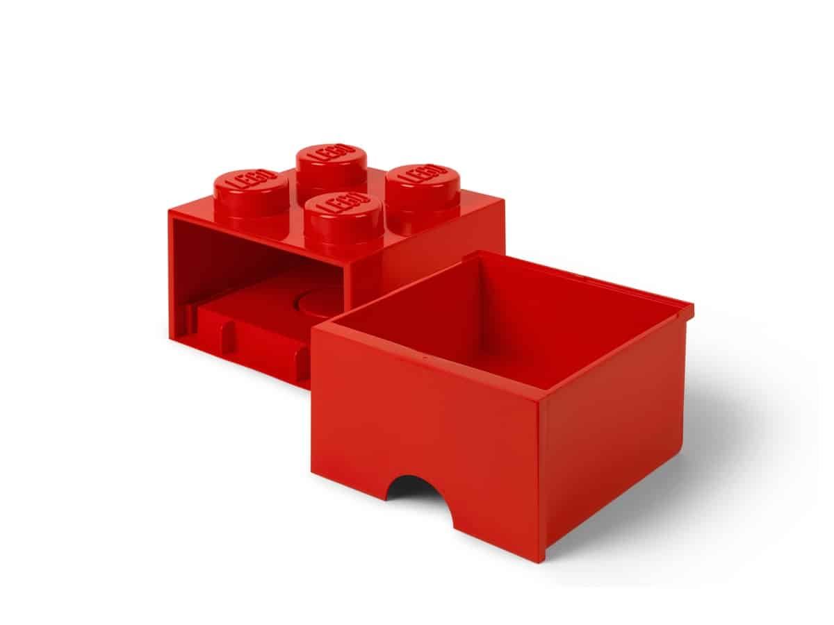 lego 5005402 4 stud bright red storage brick drawer