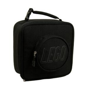 lego 5005533 brick lunch bag black