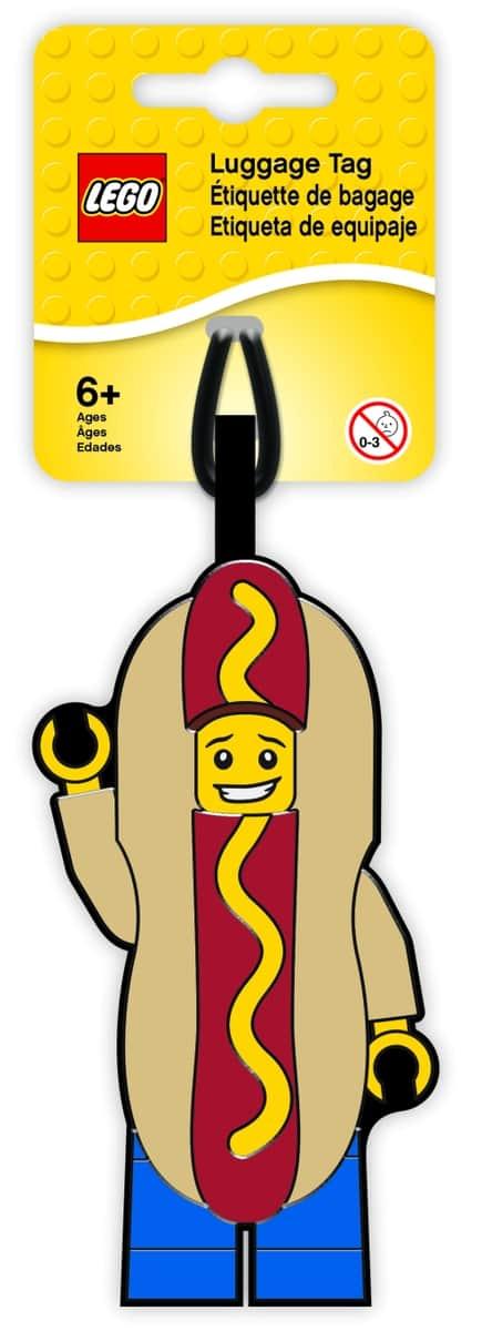 lego 5005582 hot dog guy luggage tag