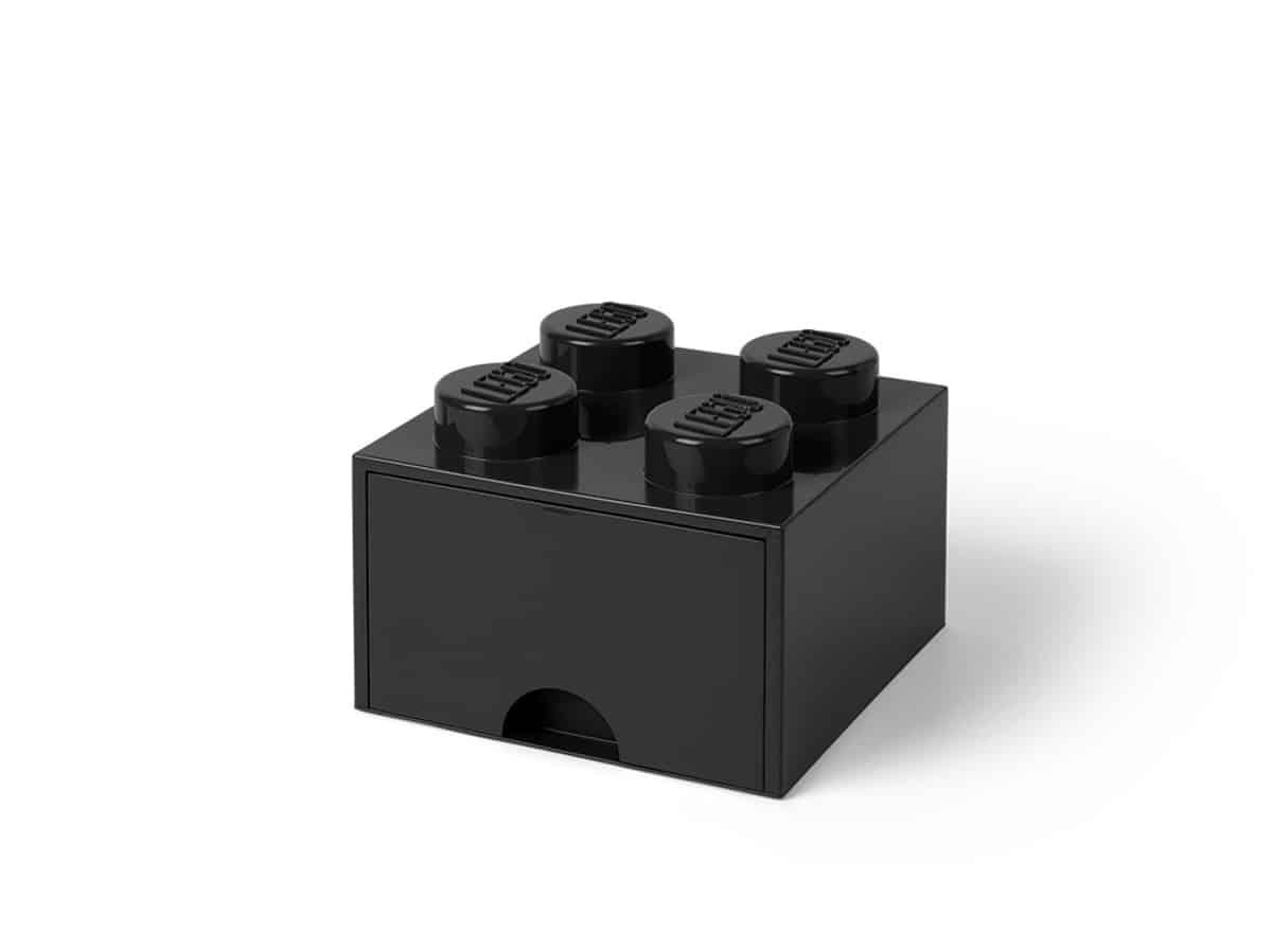 lego 5005711 4 stud black storage brick drawer