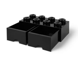 lego 5005718 8 stud black storage brick drawer