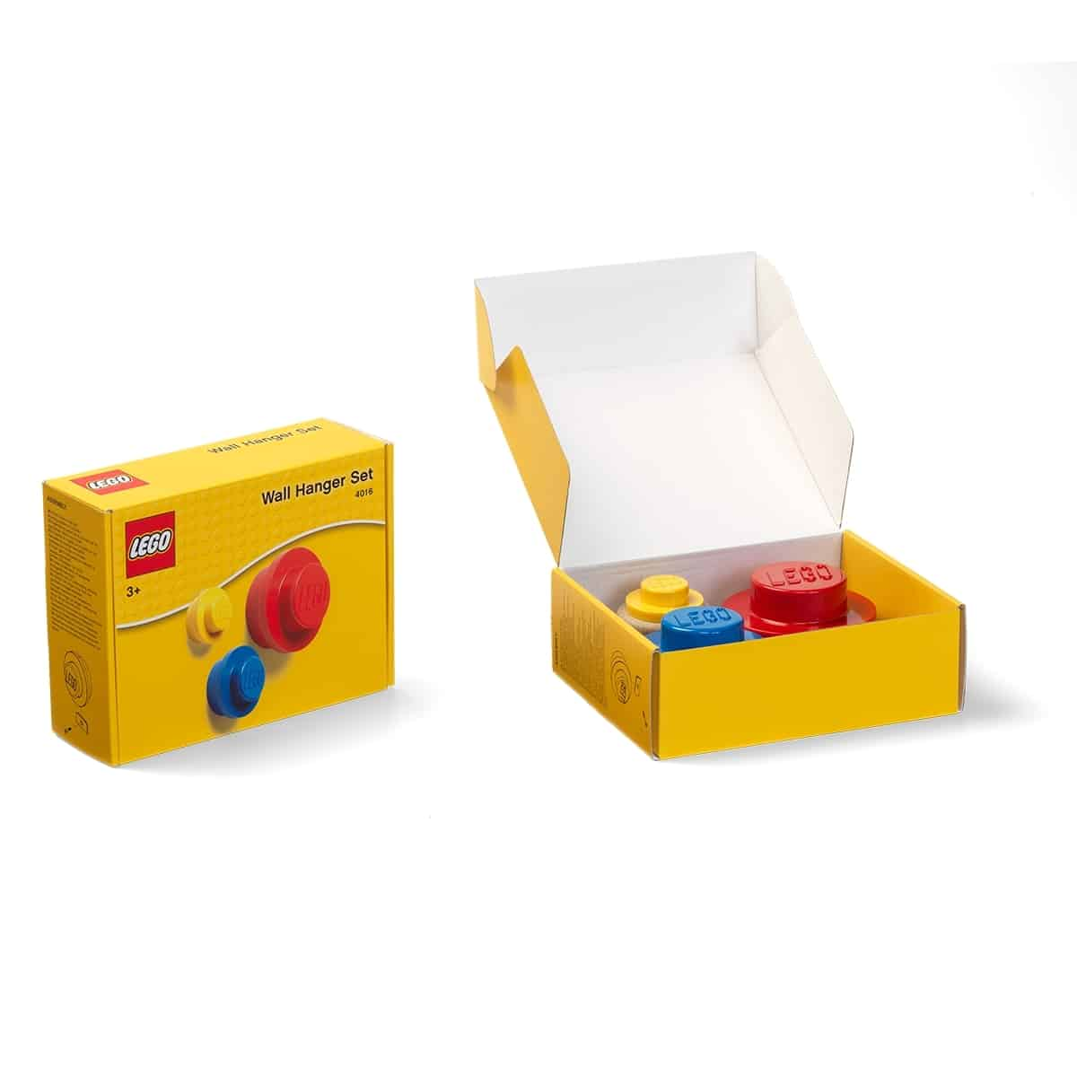 lego 5005870 red bright blue and yellow wall hanger set