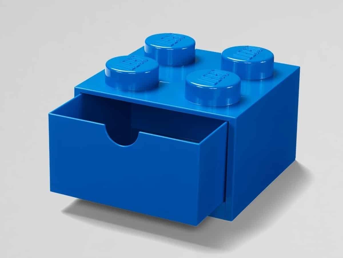 lego 5005889 4 stud blue desk drawer
