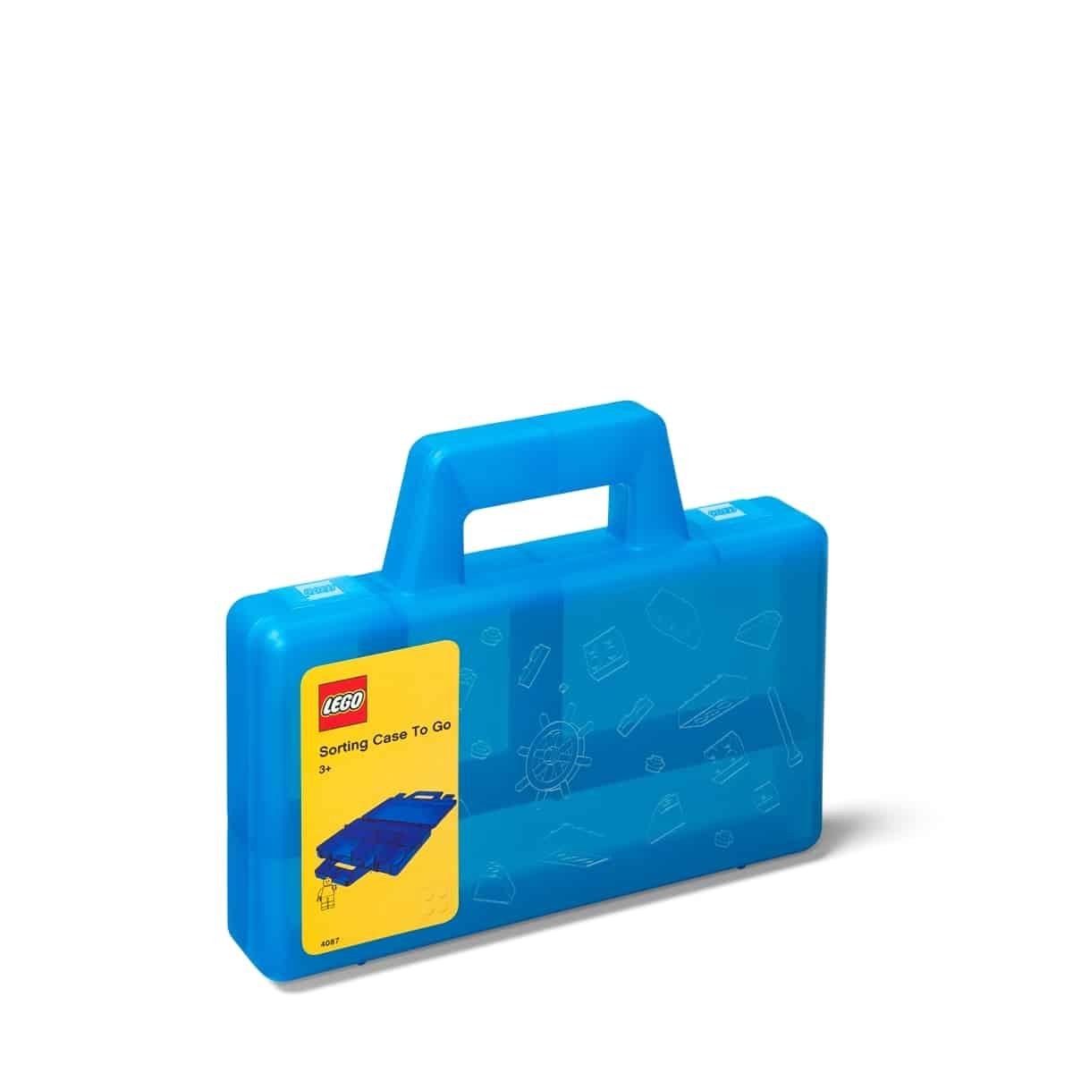 lego 5005890 transparent blue sorting case to go