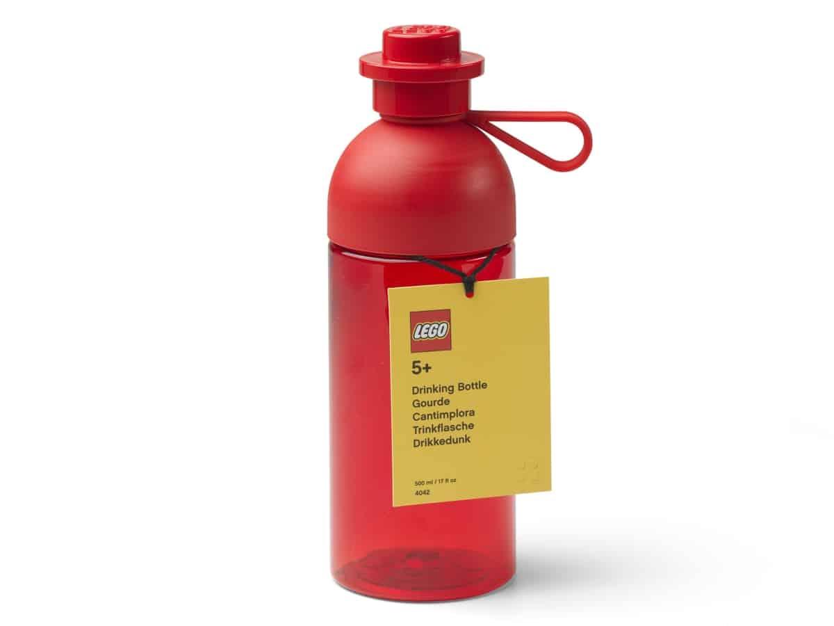 lego 5006604 hydration bottle red