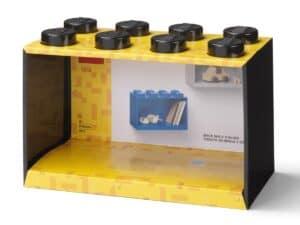 lego 5006610 brick shelf 8 knobs black