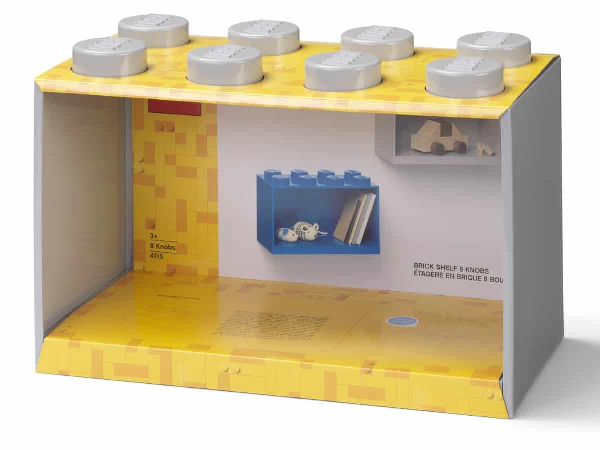 lego 5006612 brick shelf 8 knobs grey