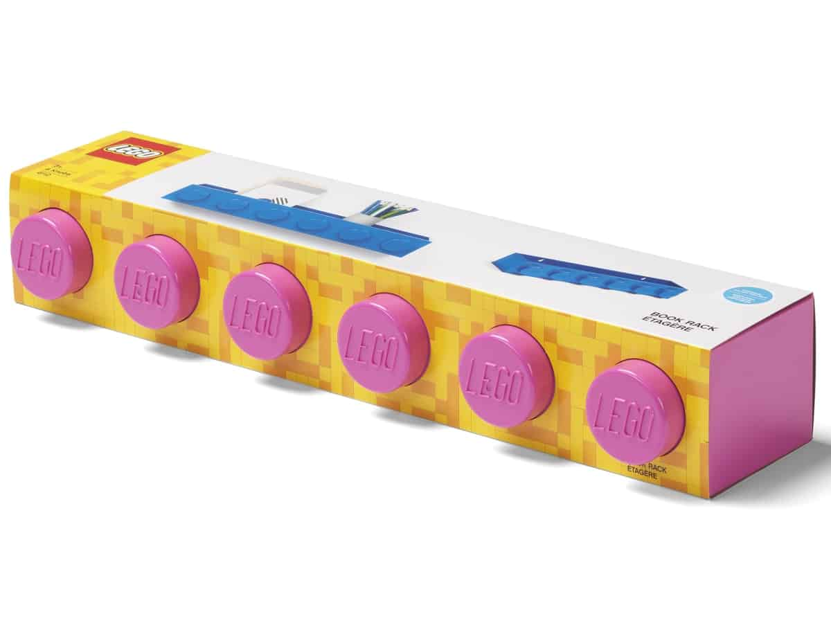 lego 5006616 brick bookrack pink