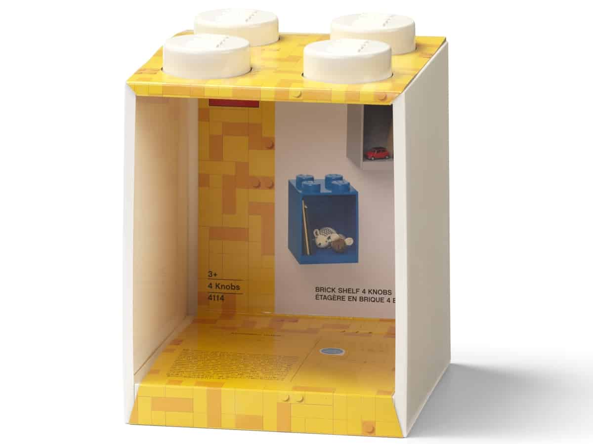 lego 5006620 brick shelf 4 knobs white