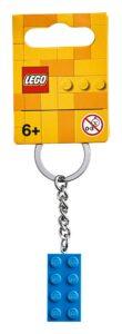 lego 853993 2x4 bright blue key chain