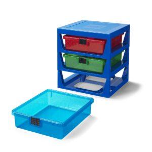 transparent blue lego 5005875 rack system