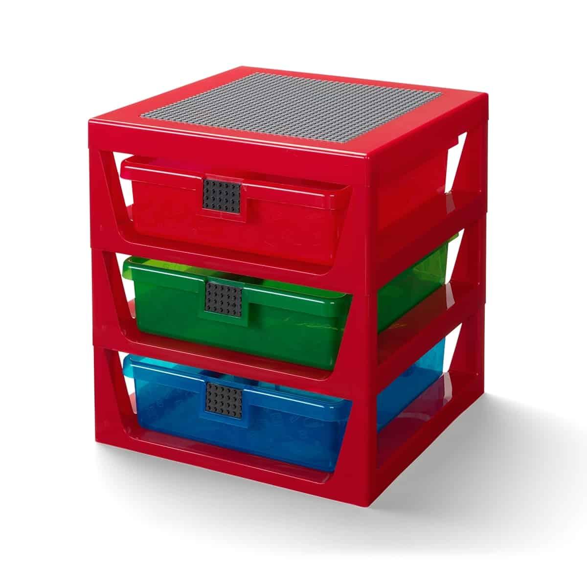 transparent red lego 5005873 rack system