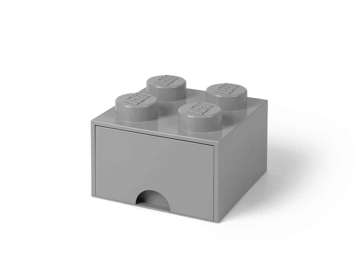lego 5005713 4 stud medium stone gray storage brick drawer