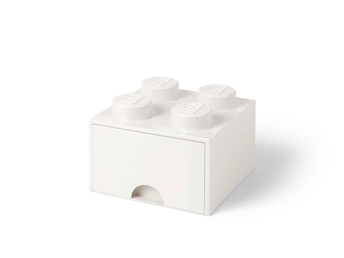 lego 5006208 4 stud brick drawer white